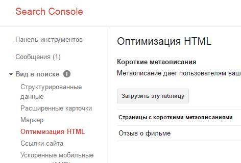 Оптимизация HTML заголовков