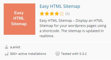 Easy html sitemap